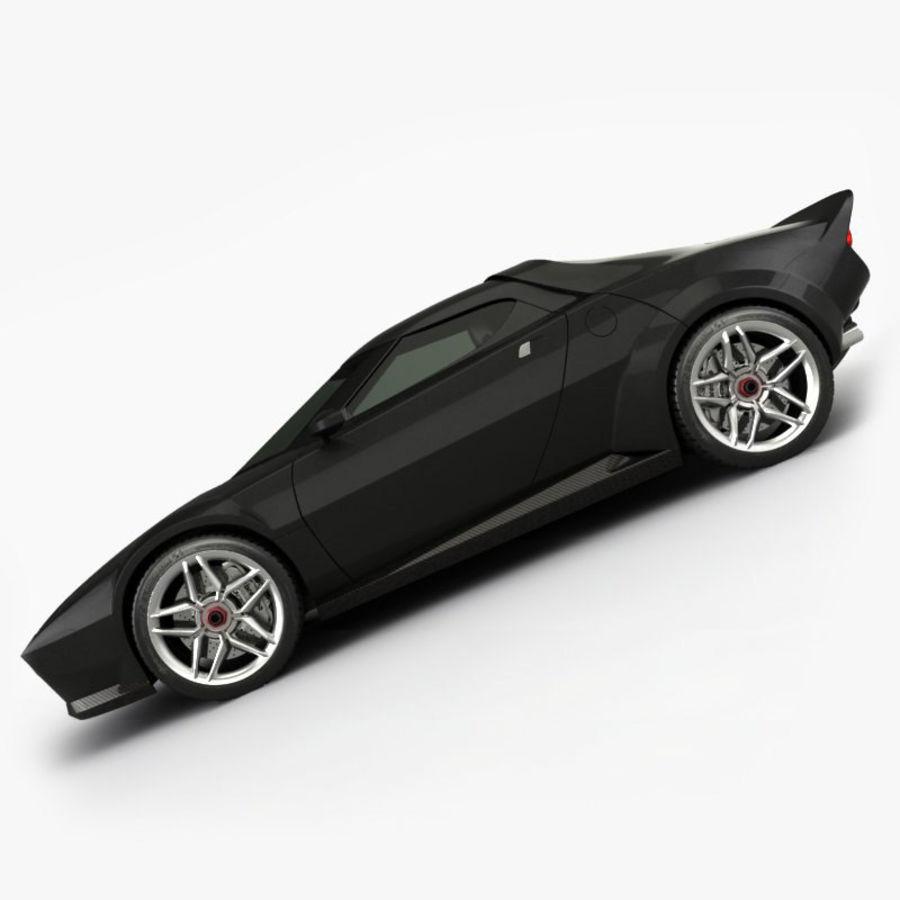 Lancia Stratos Concept Car 2010 royalty-free 3d model - Preview no. 4