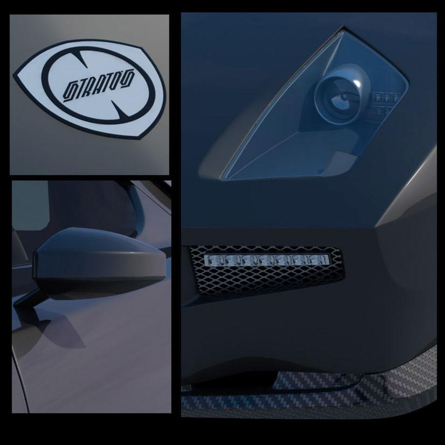 Lancia Stratos Concept Car 2010 royalty-free 3d model - Preview no. 10