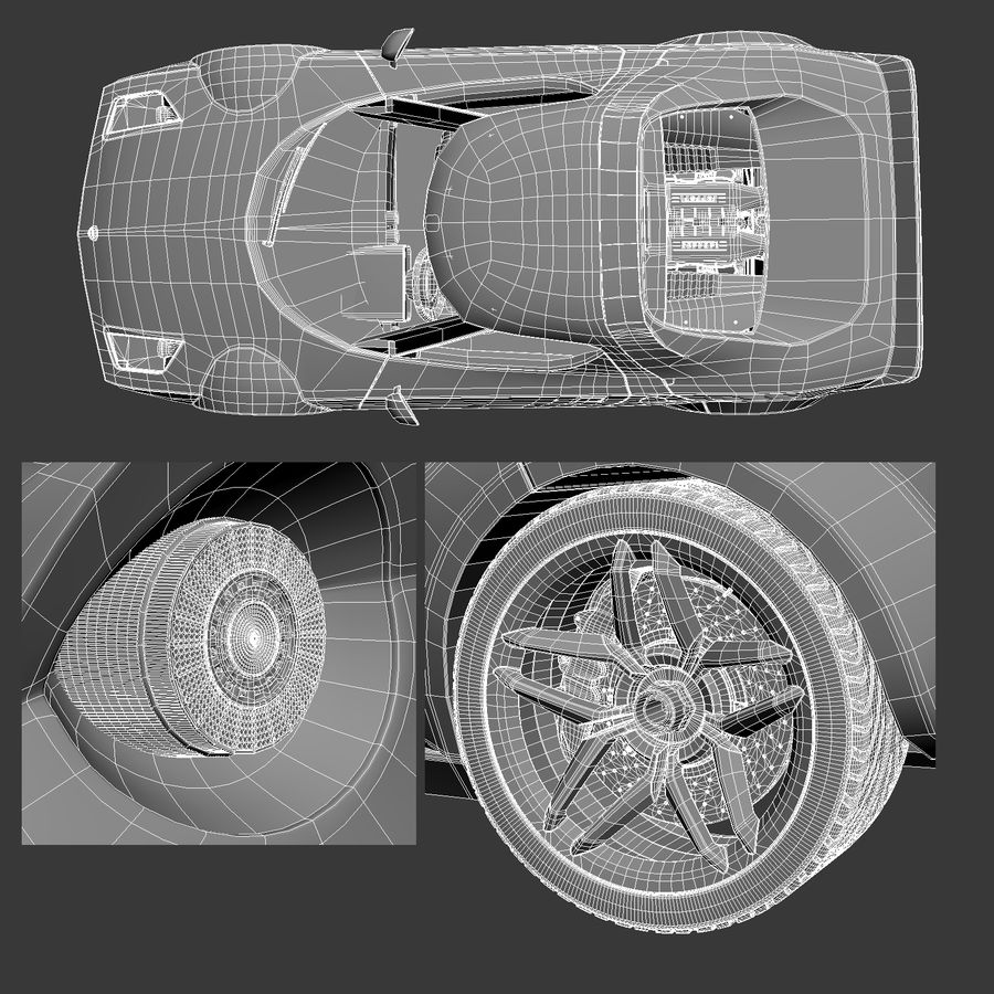 Lancia Stratos Concept Car 2010 royalty-free 3d model - Preview no. 2