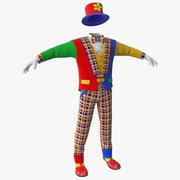 小丑服 3d model