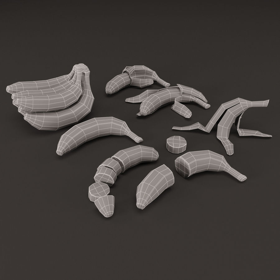 Colección de plátanos royalty-free modelo 3d - Preview no. 12