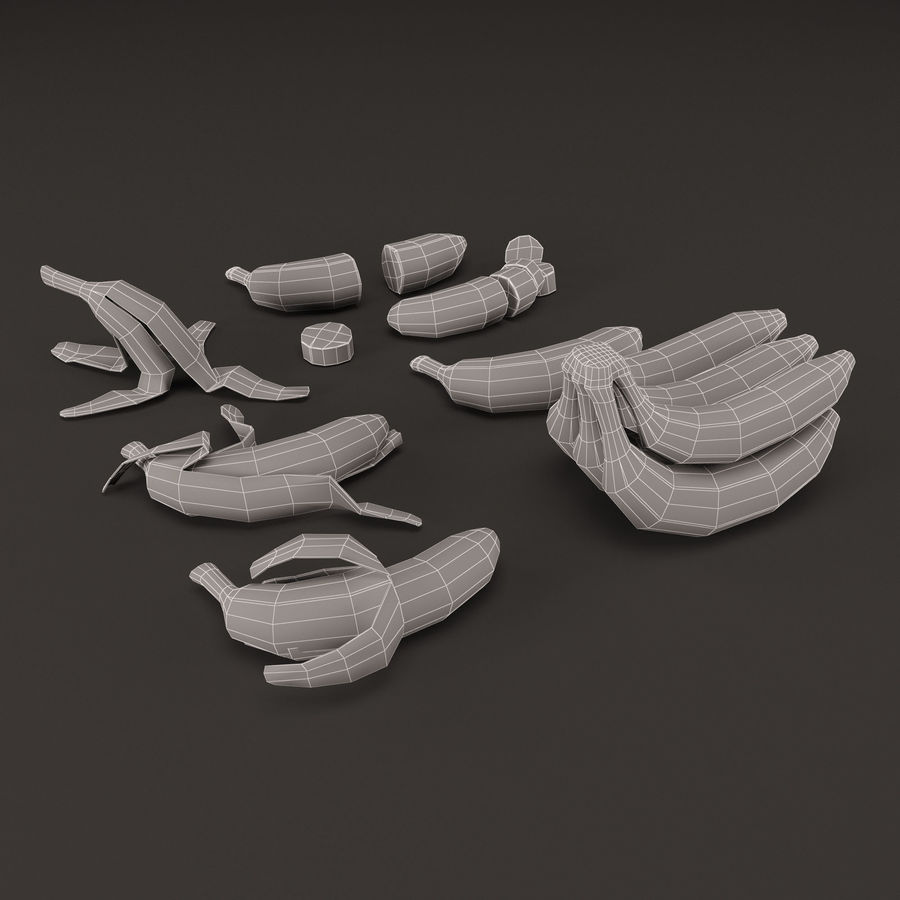 Colección de plátanos royalty-free modelo 3d - Preview no. 8