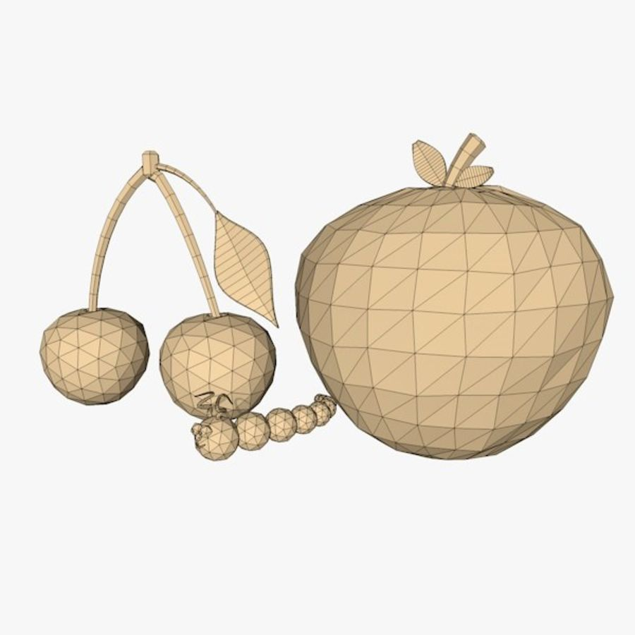 Fruits royalty-free 3d model - Preview no. 11