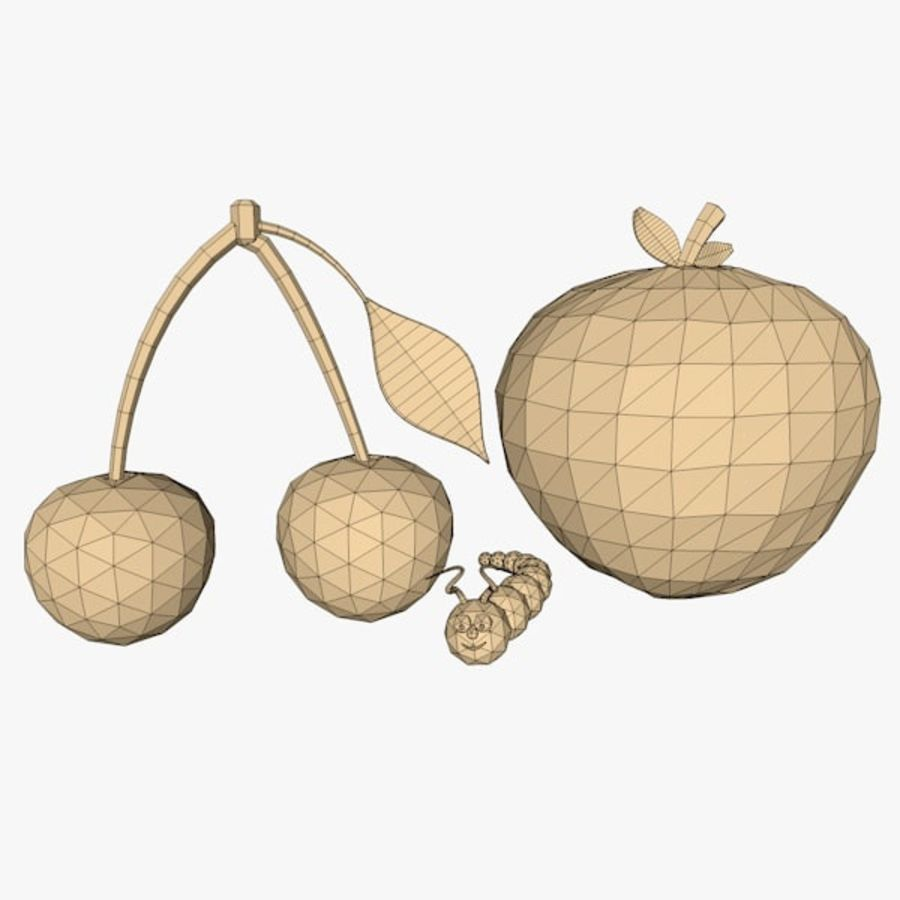 Fruits royalty-free 3d model - Preview no. 10