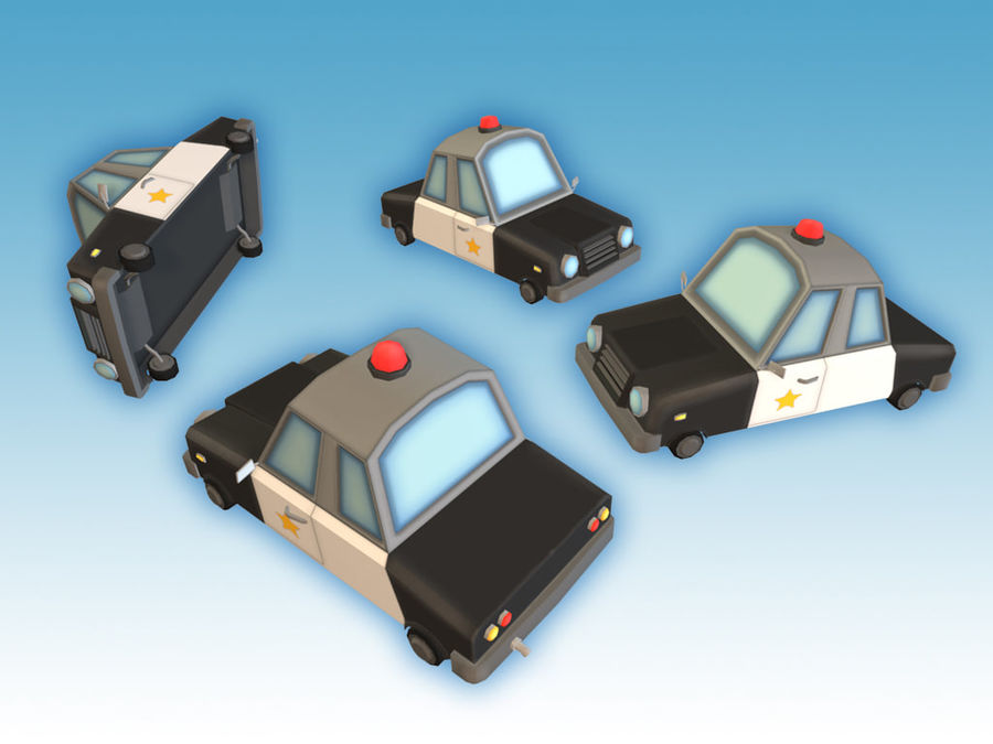 Politieauto royalty-free 3d model - Preview no. 4