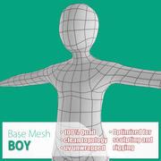 Boy Base Mesh 3d model