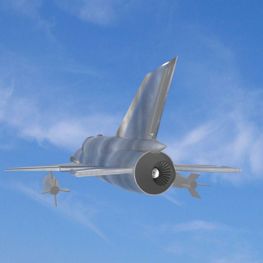 Mig-21 Jet-Plane royalty-free 3d model - Preview no. 2
