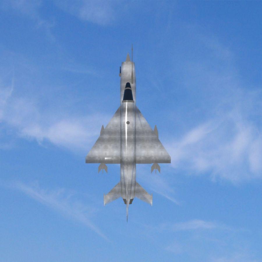 Mig-21 Jet-Plane royalty-free 3d model - Preview no. 5