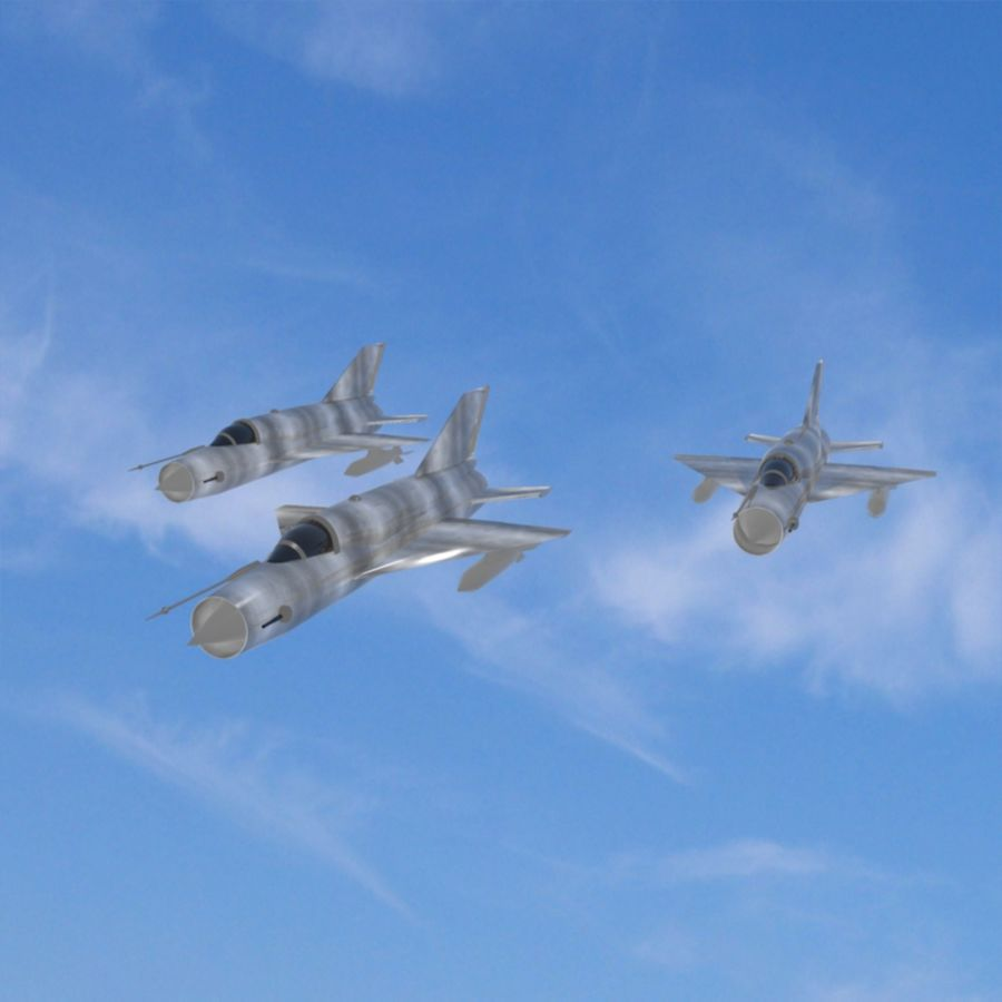 Mig-21 Jet-Plane royalty-free 3d model - Preview no. 6