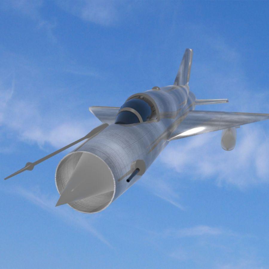 Mig-21 Jet-Plane royalty-free 3d model - Preview no. 1