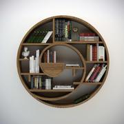円形本棚 3d model