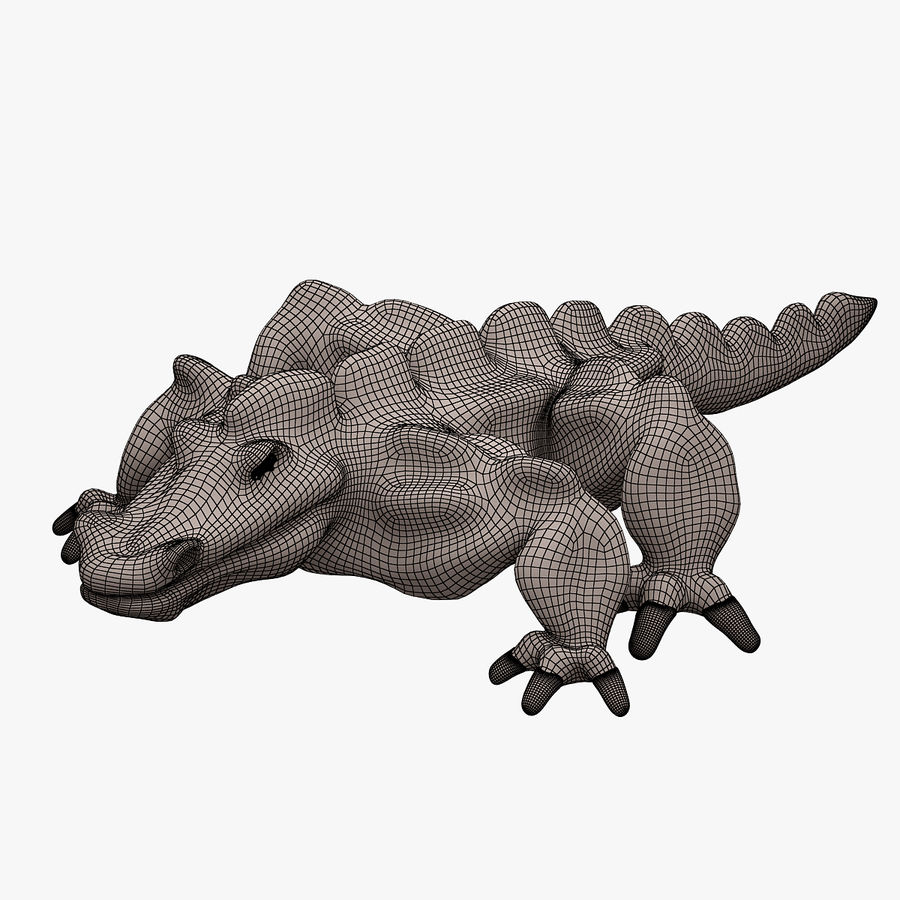 Monster 001 LOWPOLY-トポロジ-リグなし royalty-free 3d model - Preview no. 8