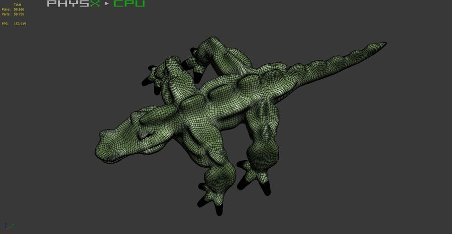 Monster 001 LOWPOLY-トポロジ-リグなし royalty-free 3d model - Preview no. 14