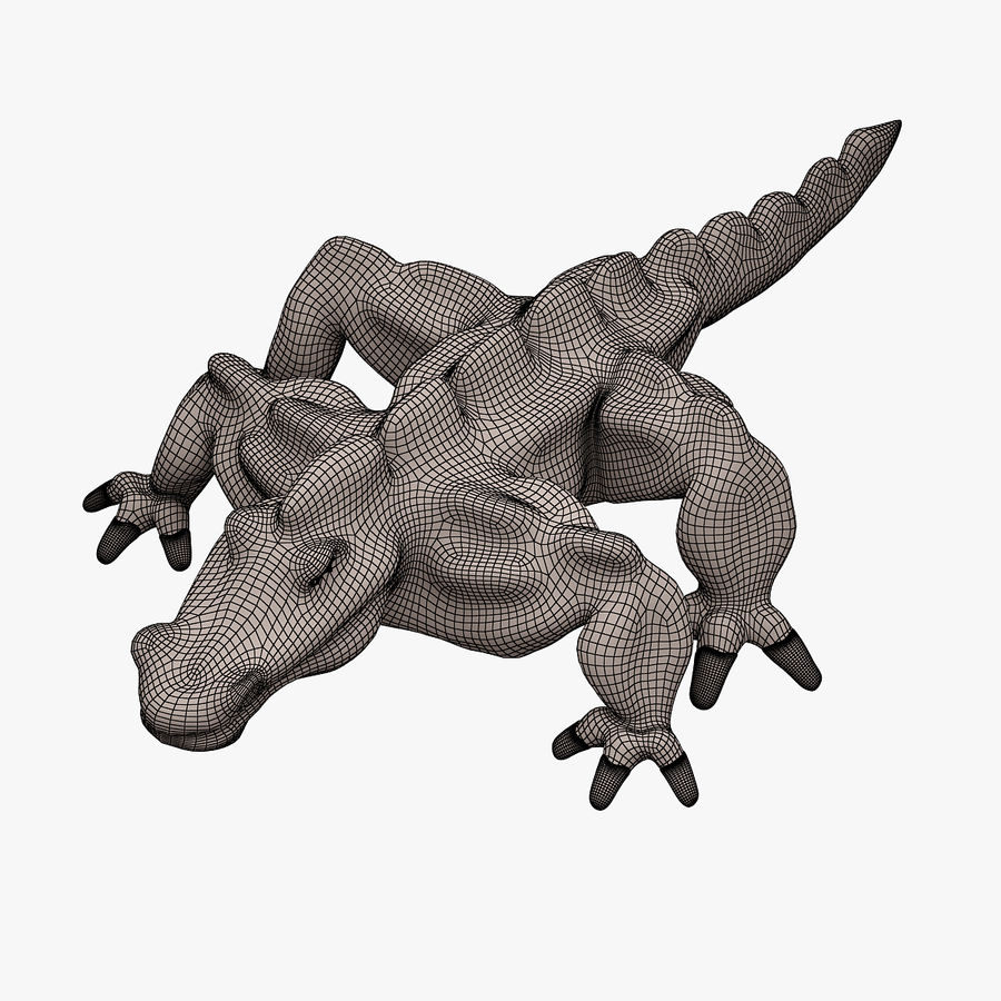 Monster 001 LOWPOLY-トポロジ-リグなし royalty-free 3d model - Preview no. 11
