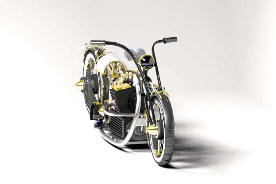 Steampunk choper royalty-free 3d model - Preview no. 4