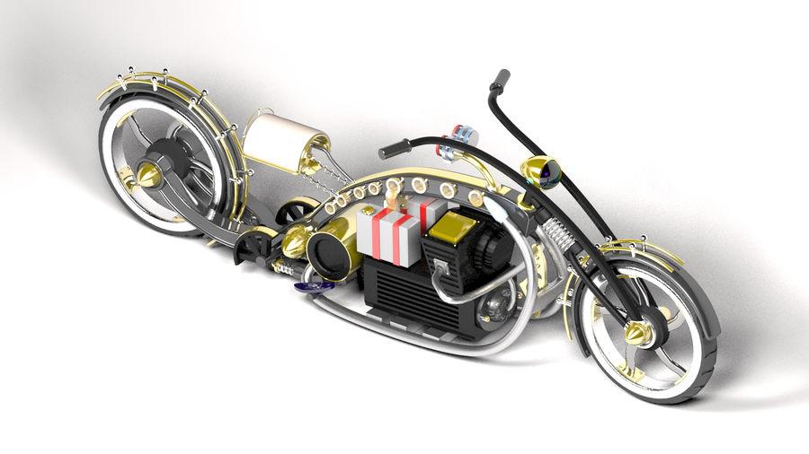 Choper Steampunk royalty-free 3d model - Preview no. 1