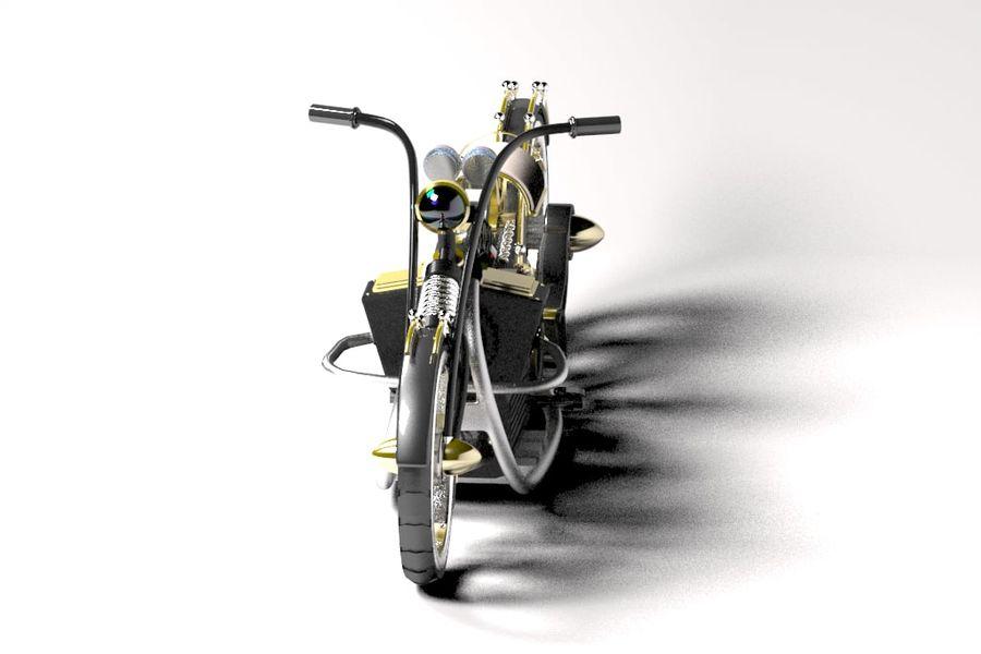Steampunk choper royalty-free 3d model - Preview no. 5