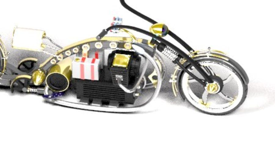 Steampunk choper royalty-free 3d model - Preview no. 2