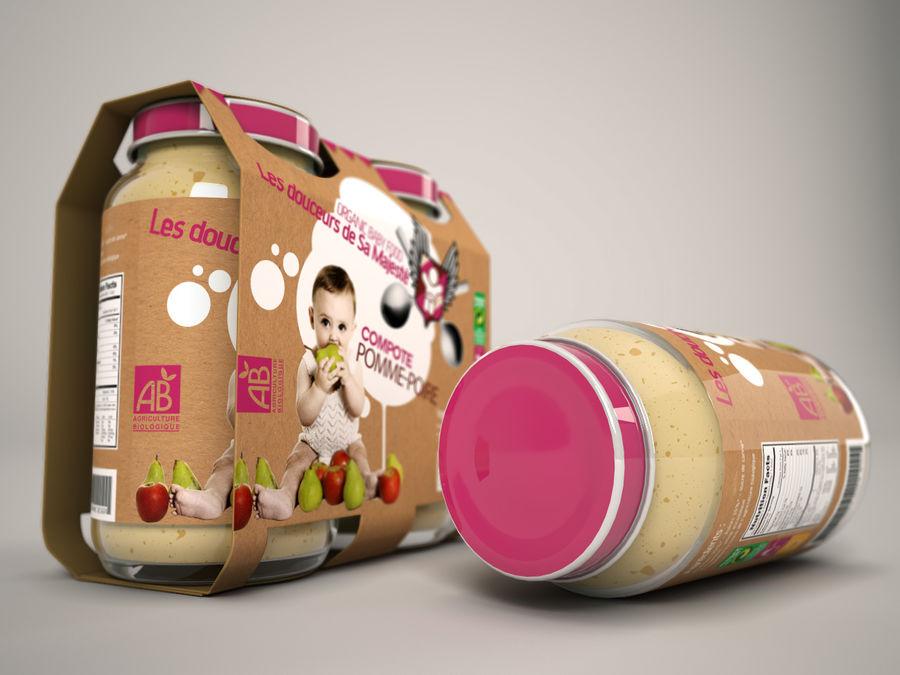 Nourriture pour bébés royalty-free 3d model - Preview no. 4