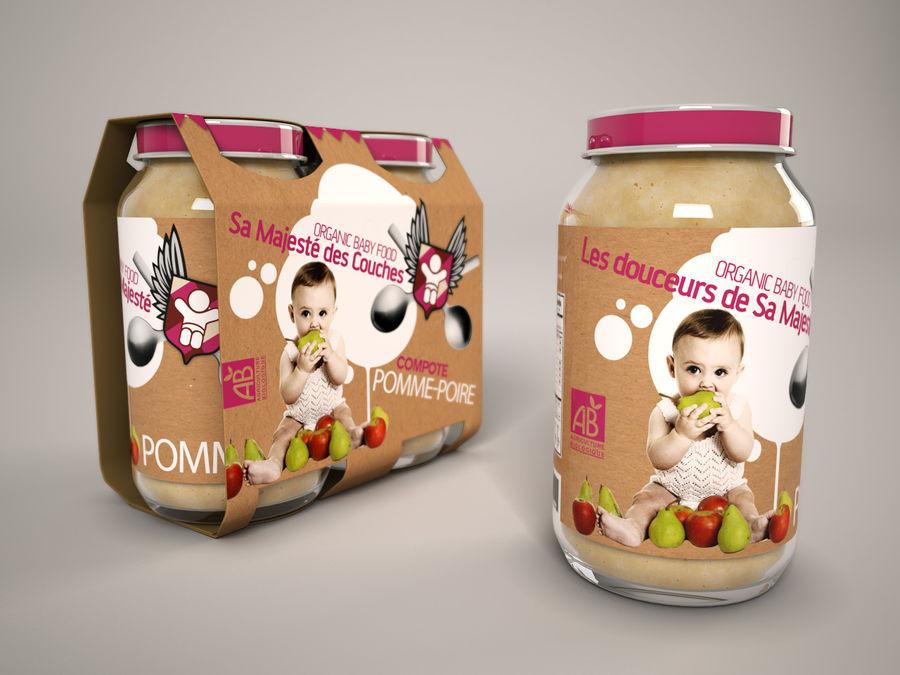 Nourriture pour bébés royalty-free 3d model - Preview no. 1