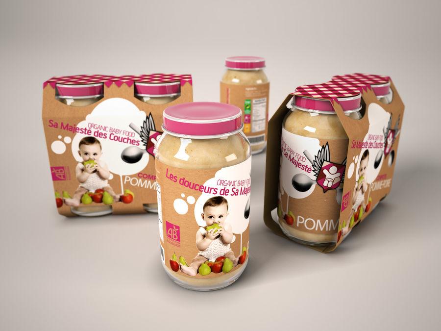Nourriture pour bébés royalty-free 3d model - Preview no. 3