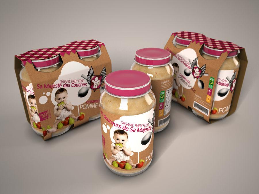 Nourriture pour bébés royalty-free 3d model - Preview no. 2