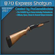 870 Hızlı Av Tüfeği 3d model