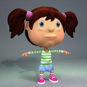 Toon Girl 3d model