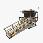 救生塔 3d model