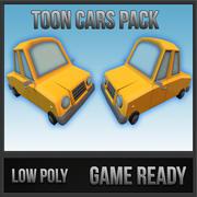 Toon Cars 3d model