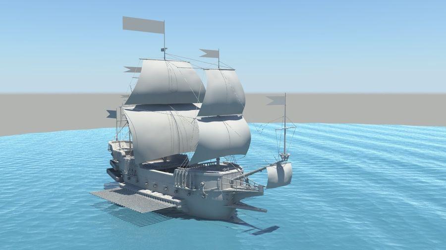 海盗船帆船 royalty-free 3d model - Preview no. 1