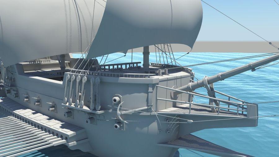 海盗船帆船 royalty-free 3d model - Preview no. 3