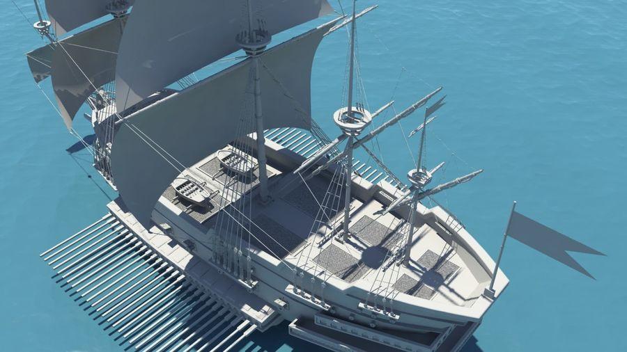 海盗船帆船 royalty-free 3d model - Preview no. 4