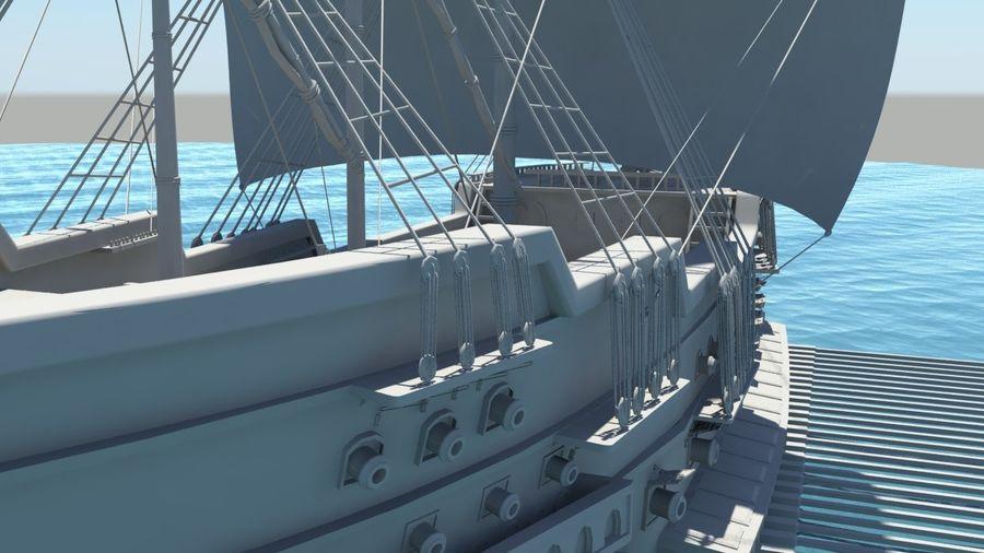 海盗船帆船 royalty-free 3d model - Preview no. 6