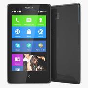 Nokia X i X + czarny 3d model
