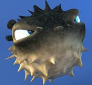 Ryba Rozdymka Kreskówka 3d model
