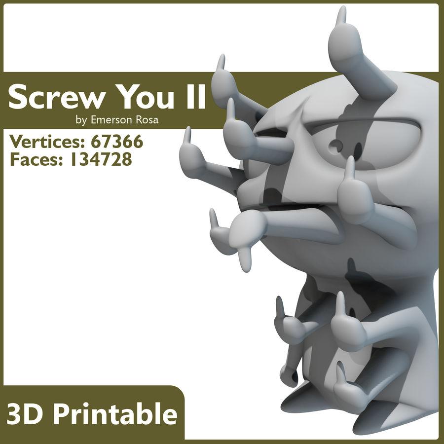 3Dプリント可能-ねじ締め「最終形態」 royalty-free 3d model - Preview no. 6