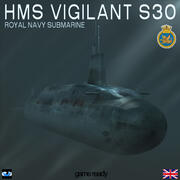 HMS Vigilant (S30) Submarine 3d model