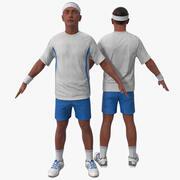 Jogador de tênis 3 3d model