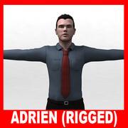 Adrien (vestido e nu) (armado) 3d model