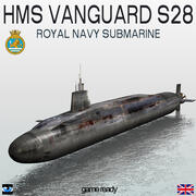 HMS Vanguard (S28) Submarine 3d model