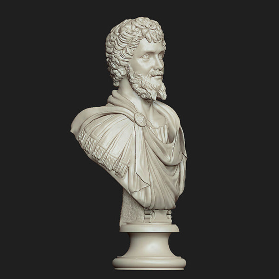 Printable bust of Septimius Severus Emperor royalty-free 3d model - Preview no. 5