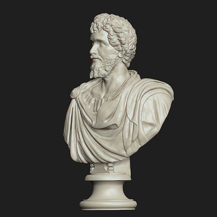 Printable bust of Septimius Severus Emperor royalty-free 3d model - Preview no. 6