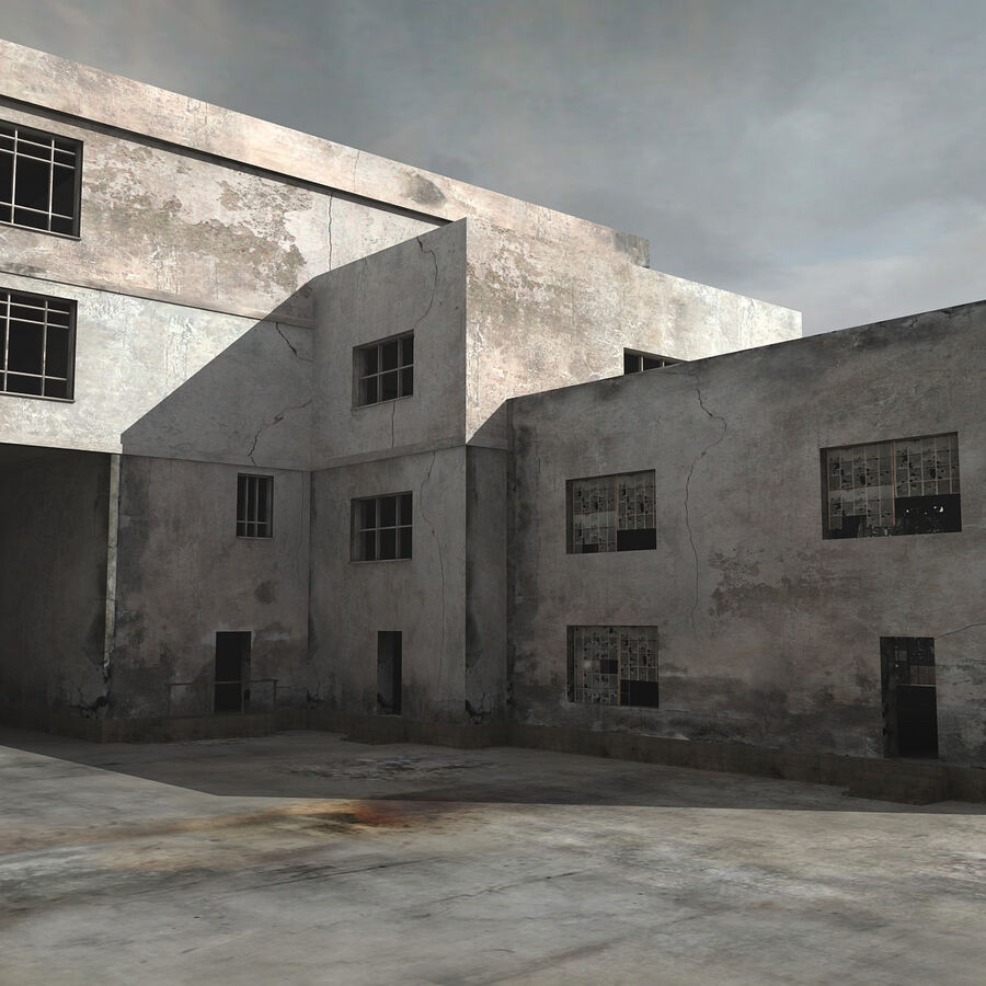 Ruin Destroyed Building City royalty-free 3d model - Preview no. 17