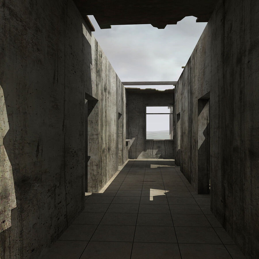 Ruin Destroyed Building City royalty-free 3d model - Preview no. 46