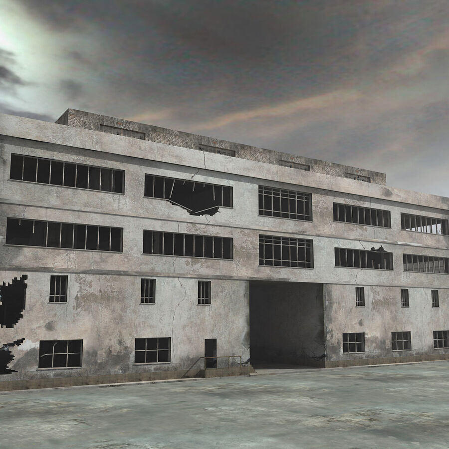 Ruin Destroyed Building City royalty-free 3d model - Preview no. 15