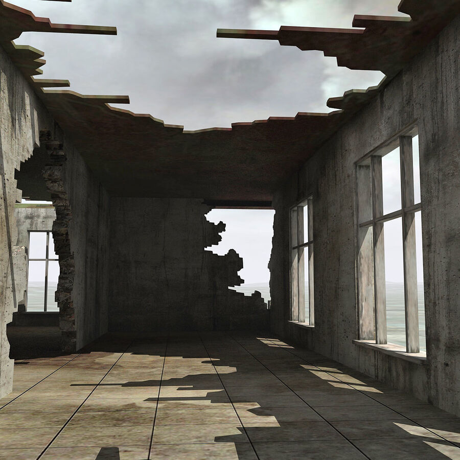 Ruin Destroyed Building City royalty-free 3d model - Preview no. 45