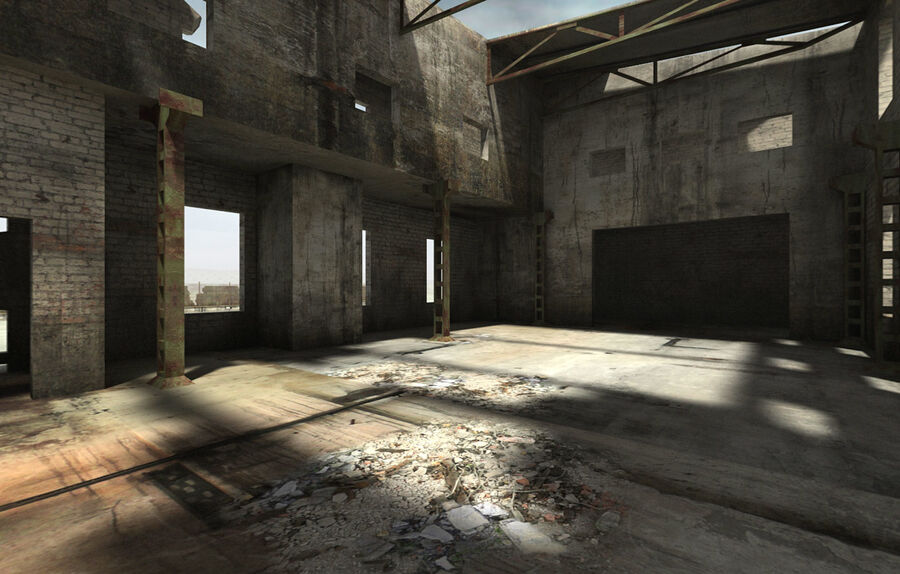 Ruin Destroyed Building City royalty-free 3d model - Preview no. 49