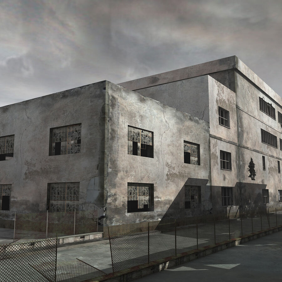 Ruin Destroyed Building City royalty-free 3d model - Preview no. 18