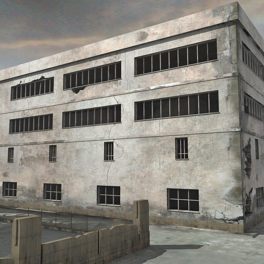 Ruin Destroyed Building City royalty-free 3d model - Preview no. 13